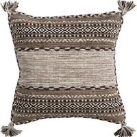 Trenza Throw Pillow Brown, Brown