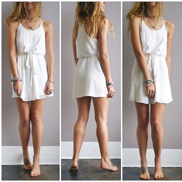 A Summer Sundress in White