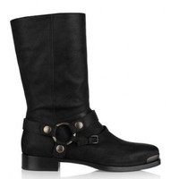 Miu Miu Brushed-leather biker boots