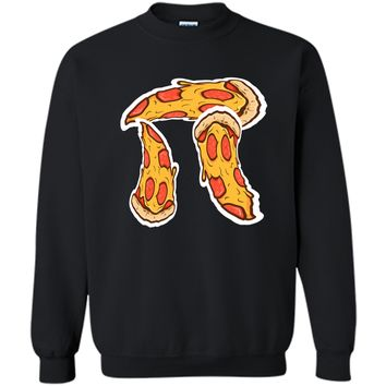Pi Day Shirt kids Pizza Pi Funny Math Food 3.14 Distressed Printed Crewneck Pullover Sweatshirt 8 oz