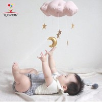 KAMIMI 2017 new Creative Cushion Super Soft Toy cotton Clouds Moons baby room Decorations Children toy