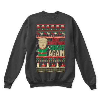 PEAPINY Make Christmas Great Again Funny Donald J. Trump Quoted Ugly Sweater