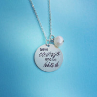 Have Courage and Be Kind Cinderella Inspired Necklace from SHOW PONY