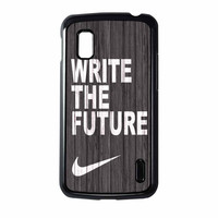 Nike Future On Wood Gray Nexus 4 Case
