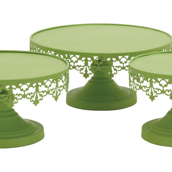 Light Green Color Attractive Metal Cup Cake Stand