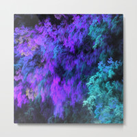Faux Nature Fractal Metal Print by lyle58