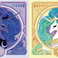 My Little Pony Princess Celestia and Princess Luna 12 x 12 inch Print Set