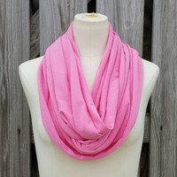 BREAST CANCER AWARENESS - Infinity Scarf - The Grande Circle Scarf in Flamingo Pink