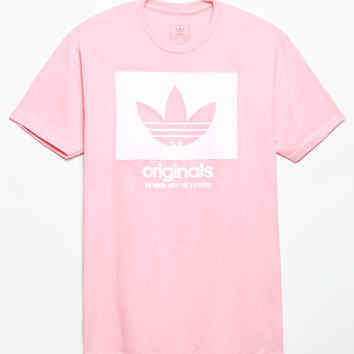 adidas Logo Knockout Outline Pink T-Shirt at PacSun.com