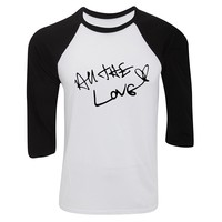 "One Direction ""All The Love / Harry Styles Autograph"" Baseball Tee"