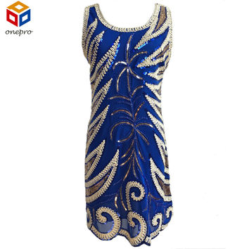 Russia Size 42-46 Cheap Women Hand Made Sequins Slim Dresses Sleeveless Embroidery Party Vintage Mini Dress