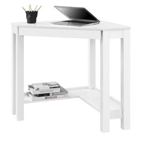 Simple Modern Classic Corner Laptop Desk With Drawer In White