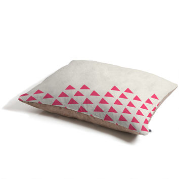 Allyson Johnson Pink Triangles Pet Bed
