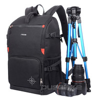 """DSLR Camera Photo Backpack Padding Divider Insert with 15"""" Laptop Pack Travel Bag for Canon 5D 7D 600D Nikon D7200 Sony a6000 38"""