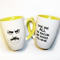 Parks and Rec Ron Swanson Breakfast mug