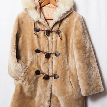 Retro Faux Fur Trench Coat, Medium Viking Jacket, VikingMan Fluff Jacket, Oktober Fest Beer Jacket, Mountain Man Jacket, Frontier Jacket
