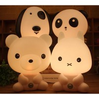 Baby Room Panda/Rabbit/Dog/Bear Cartoon Night Light
