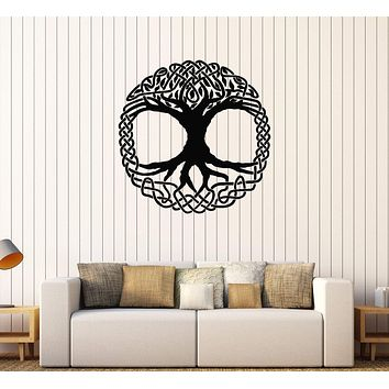 Vinyl Wall Decal Celtic Tree Ireland Ornament Irish Stickers Mural Unique Gift (451ig)