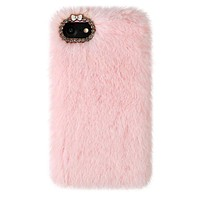 Pink Faux Fur iPhone Case