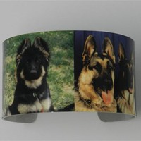 German Shepherd Cuff Bracelet Police Dog K9 Cop Sublimated Bracelet
