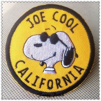 California Joe Cool Snoopy Iron on Patch 206-H