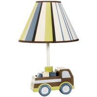 KidsLine  Mosaic Transport Truck Baby Boy Lamp with Shade