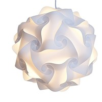 Decor Hut Modern Lamp Shade White, Medium size, Led Light Not Included. Cord Sold Seperatly