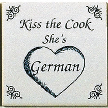 German Culture Fridge Tile (Kiss German Cook)