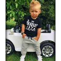 Summer style sports suit fashion baby boy clothing set Soft Breathable Modal Fabric kids boys tracksuit 2 piece set