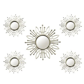 Palomar Champagne Burst Wall Mirror (Set of 5)