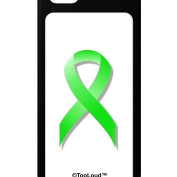 Lyme Disease Awareness Ribbon - Lime Green iPhone 5 / 5S Grip Case  by TooLoud