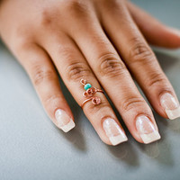 Regal Knuckle Ring w/ Bead