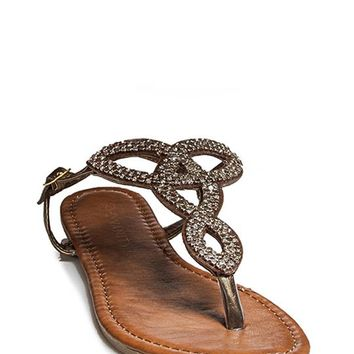 Cut Out Metal Gladiator Sandals