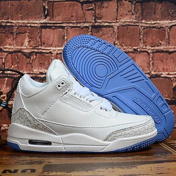 Air Jordan 3 Retro Pure White Toddler Kid Shoes Child Sneakers - Best Deal Online
