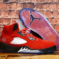 Air Jordan 5 x Trophy Room Red/Black Sneaker