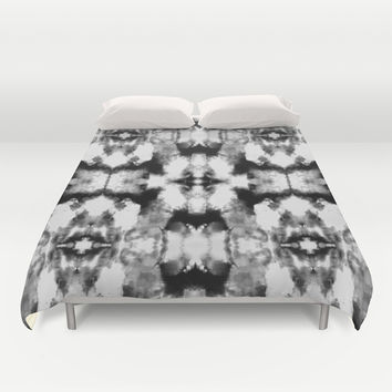 Tie Dye Blacks Duvet Cover by Nina May Designs