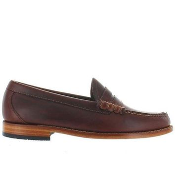 Bass Weejuns Larson   Seahorse Brown Leather Classic Penny Loafer