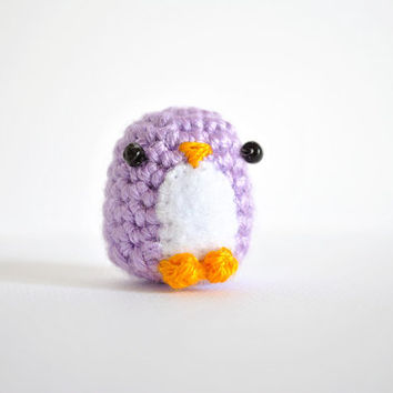 Little penguin amigurumi, Adam. Cute crochet doll.