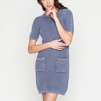 Sweater Dress with Wash effect