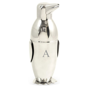 Monogram Penguin Cocktail Shaker, Silver, Shakers