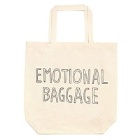 Emotional Baggage Oversized Tote Bag