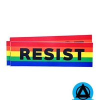 RESIST Sticker - Rainbow (Set of 3)