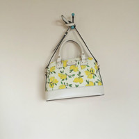 NwT Aut Kate Spade Wellesley Lemon Fabric Small Rachelle Painterly Lemons