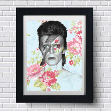 David Bowie Wall Art  | Lisa Jaye Art Designs