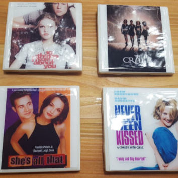 Ceramic Coasters Tile Coasters 90s Movie Coasters The Craft 10 Things I Hate About You Never Been Kissed She's All That