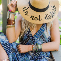 Do Not Disturb Beach Sunhat