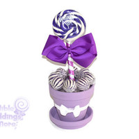 Medium Purple Lollipop Centerpiece, Purple, Lollipop, Wedding, Bridal Shower, Candy, Centerpiece, Candy Buffet, Sweet Sixteen, Quinceanera