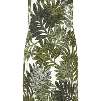 Palm Leaf Print Slip Dress - Topshop