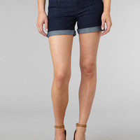 Indigo high waist shorts - Dorothy Perkins