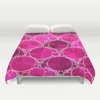 Hot Pink  Bling Pattern  Duvet Cover by Amy Anderson